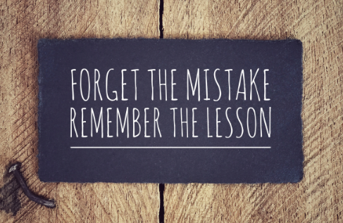don't let your mistakes keep you down www.mllwg.com