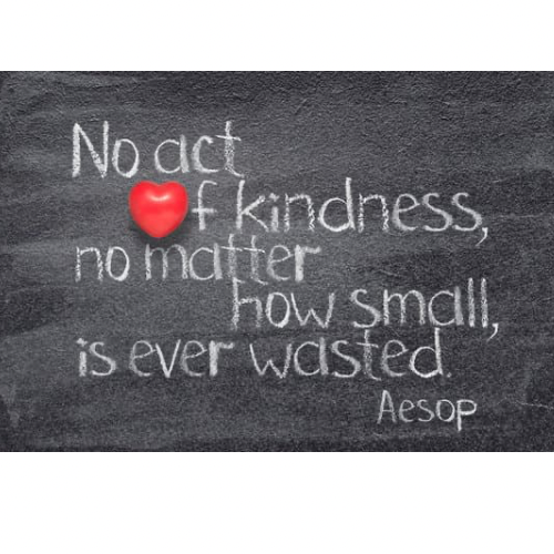 Kindness is a virtue