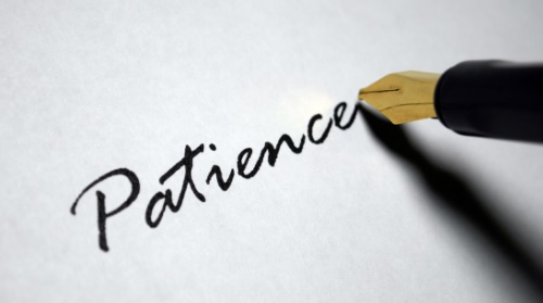 Patience really is a virtue