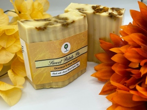 Sweet Potato Pie Donkey's Milk Soap made with Arnica Oil by Creation101